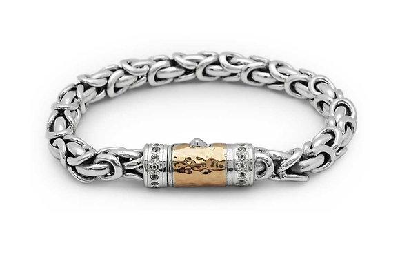 Silver/Gold Dragon Scales Bracelet