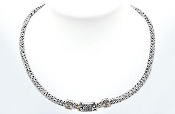 Dragon Bone White Topaz Necklace