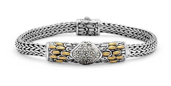 Silver/Gold Dragon Bone Chain Bracelet