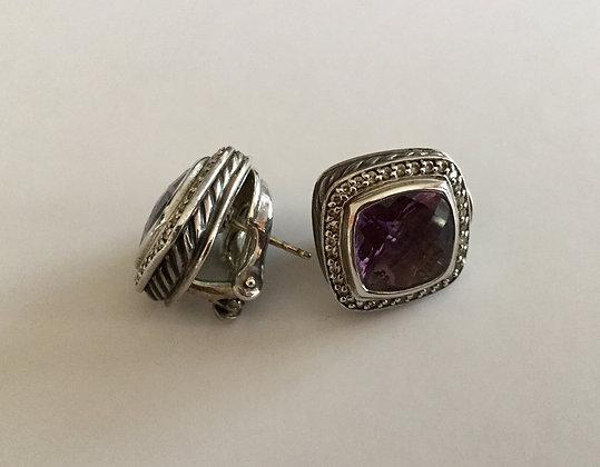 David Yurman amethyst silver  earrings