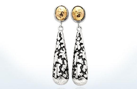 Plaster Texture Dangle Drop Earrings