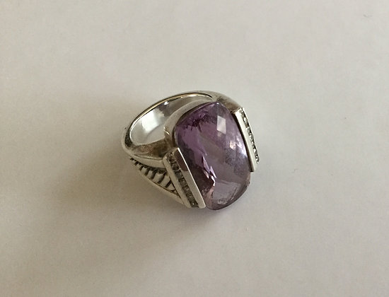 David Yurman silver amethyst ring