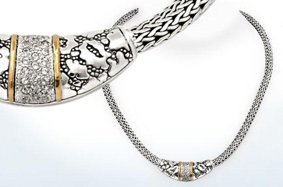 Plaster Texture White Topaz Necklace