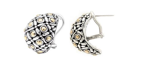 Earrings, Silver/Gold Dots Design