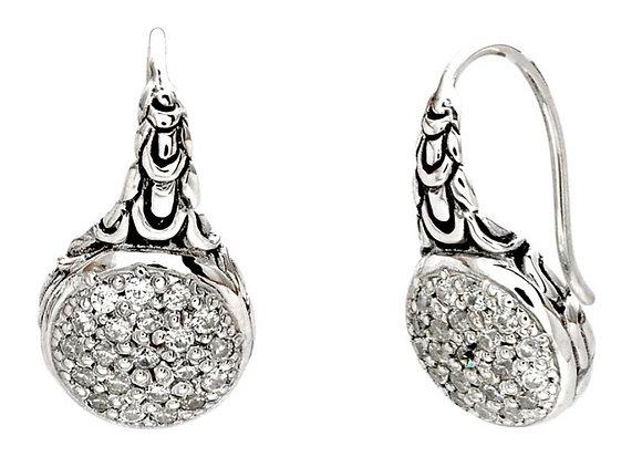 Silver Euro Wire Earrings