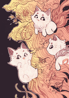 Cats & Seafood Noodles