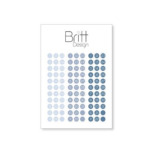 Runde Sticker DATUM | blau