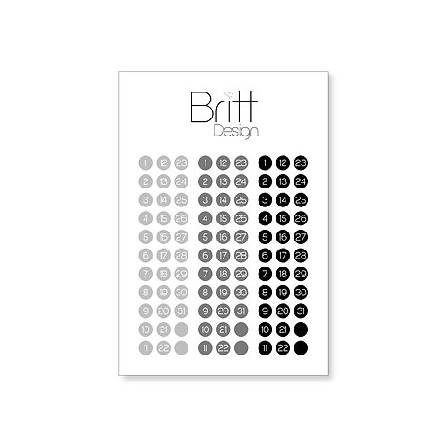 Runde Sticker DATUM | schwarz
