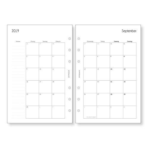 Kalendereinlagen A5 | MONATSPLANER