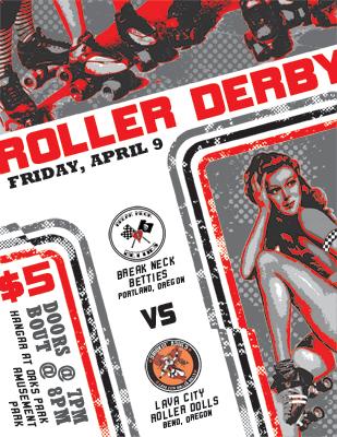 Roller Derby Flier