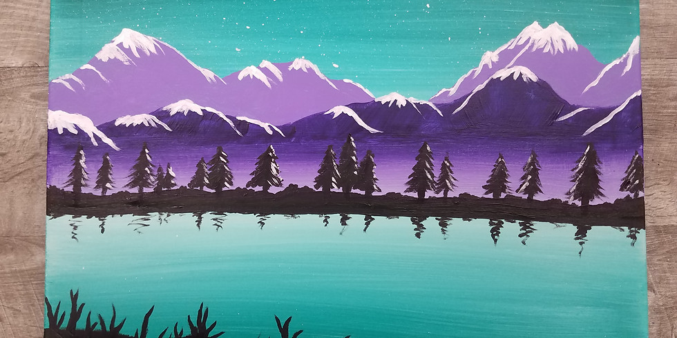 Sip N' Paint: Tranquility Mountains