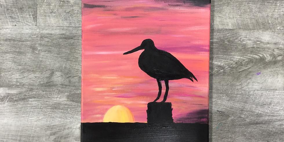 Sip N' Paint: Godwit at Sunset