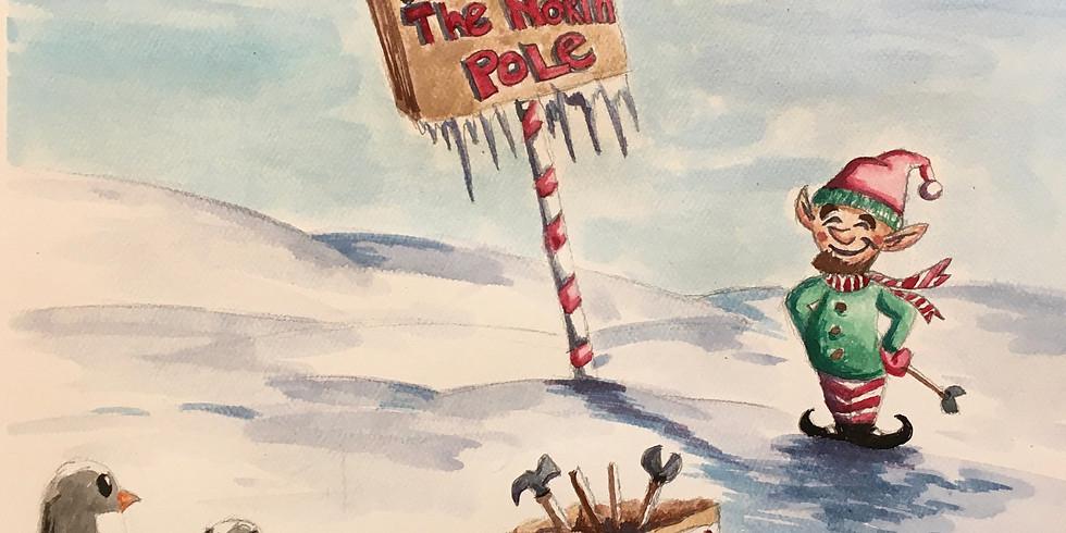 Watercolor: North Pole