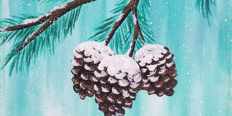 Sip n Paint: Frosted Pinecones
