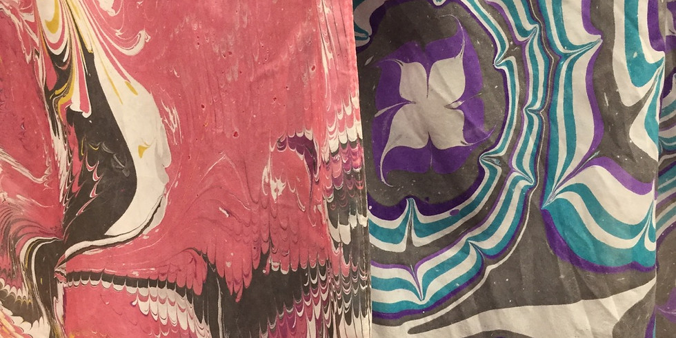 Water Marbled Silk Scarf Class