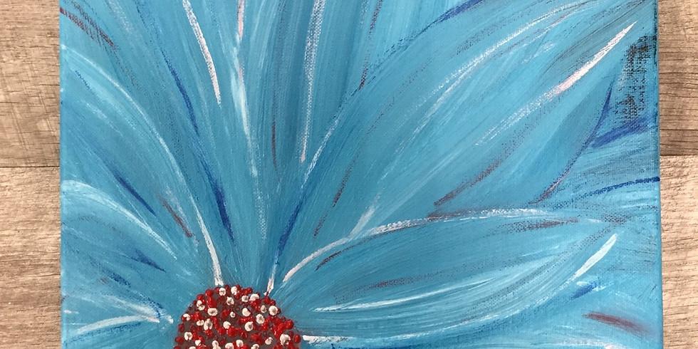 Sip N' Paint: Teal Flower