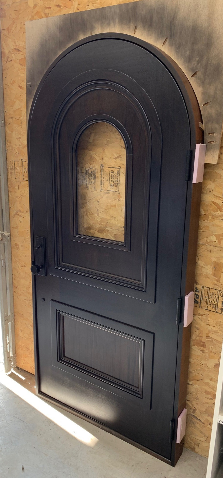 Arched Mahogany Door