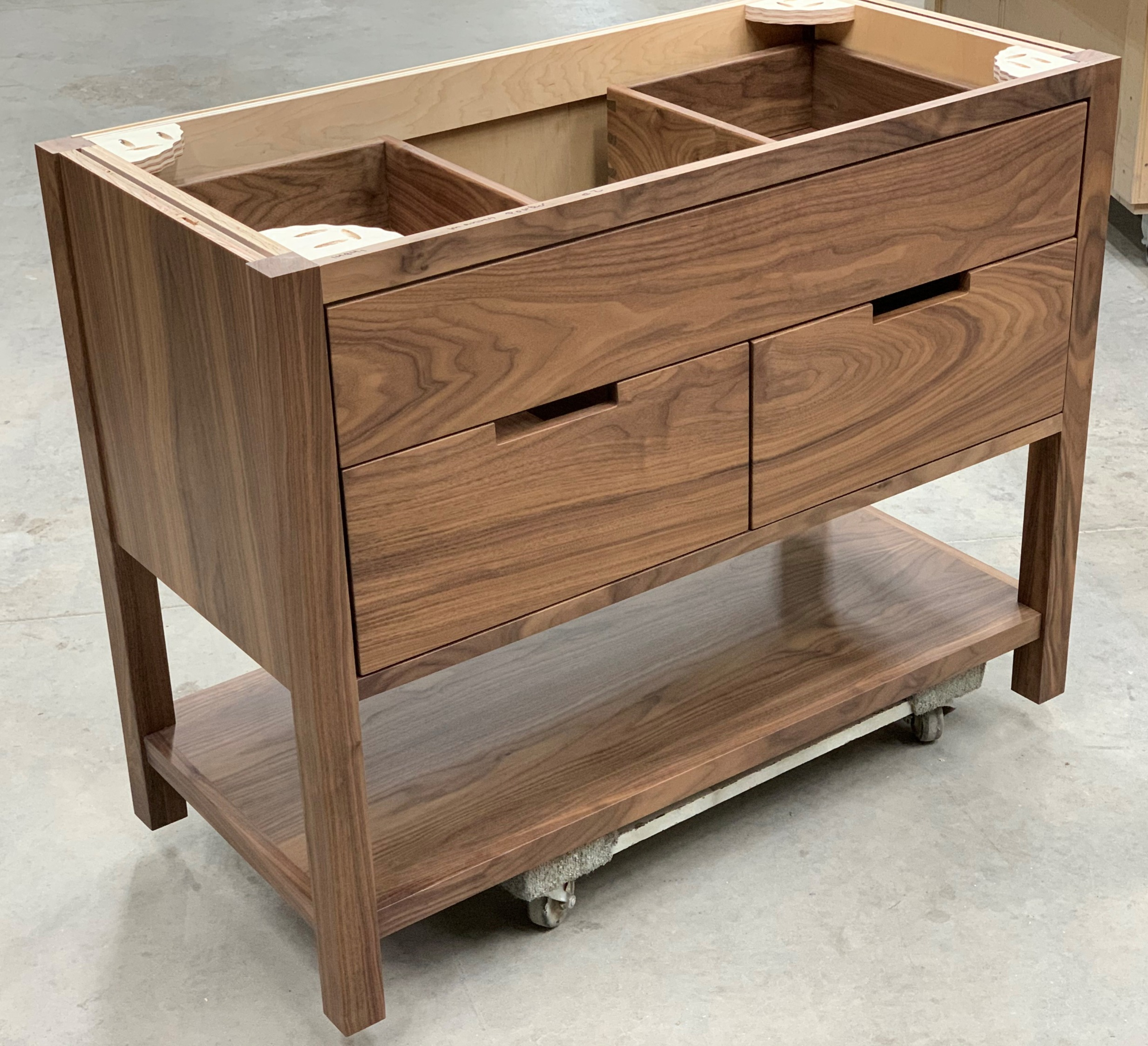 Powder Vanity - Walnut Drawer Boxes