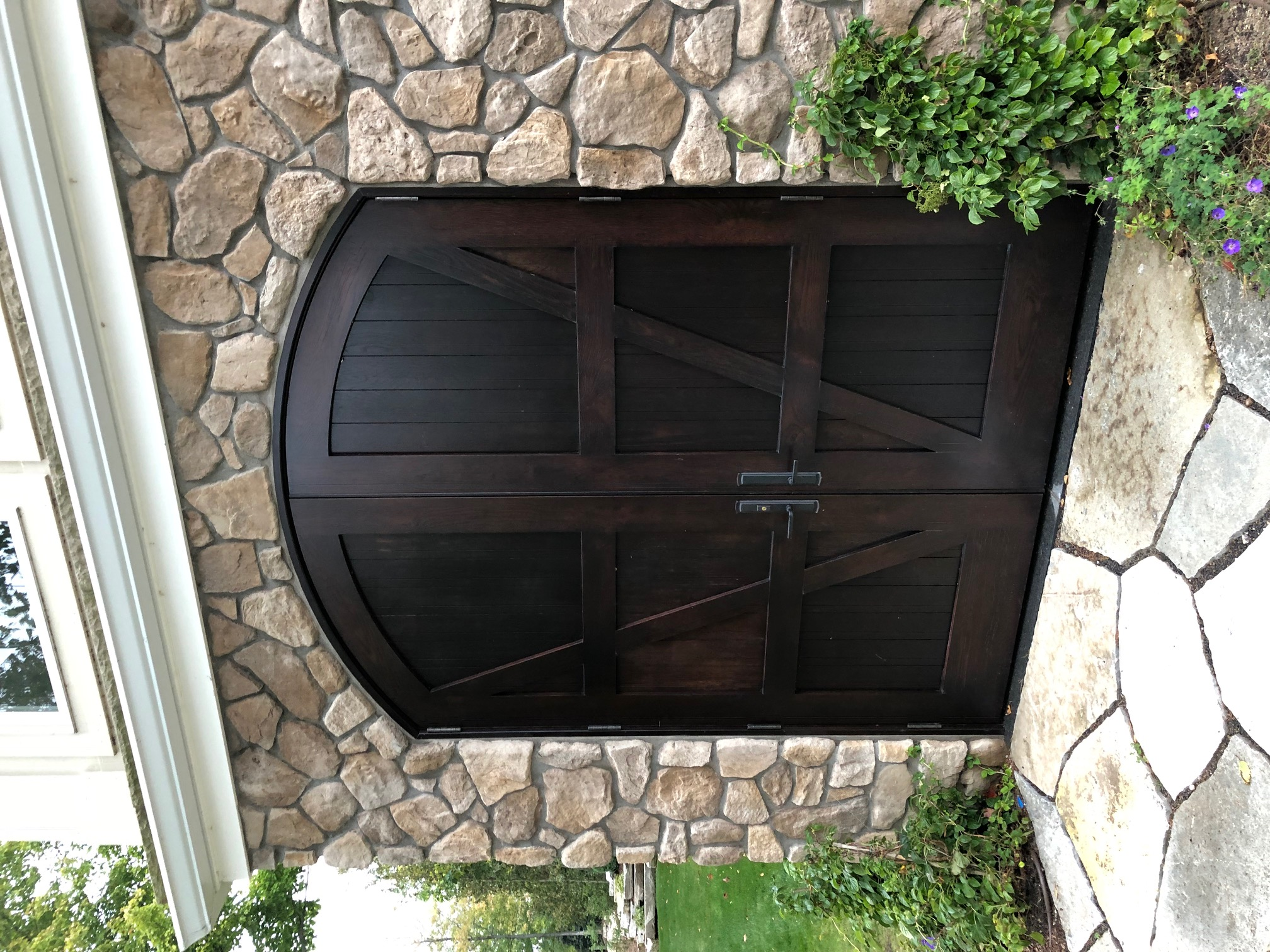 Arched Exterior Oak Doors