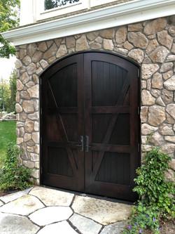 Arched Exterior Oak Doors