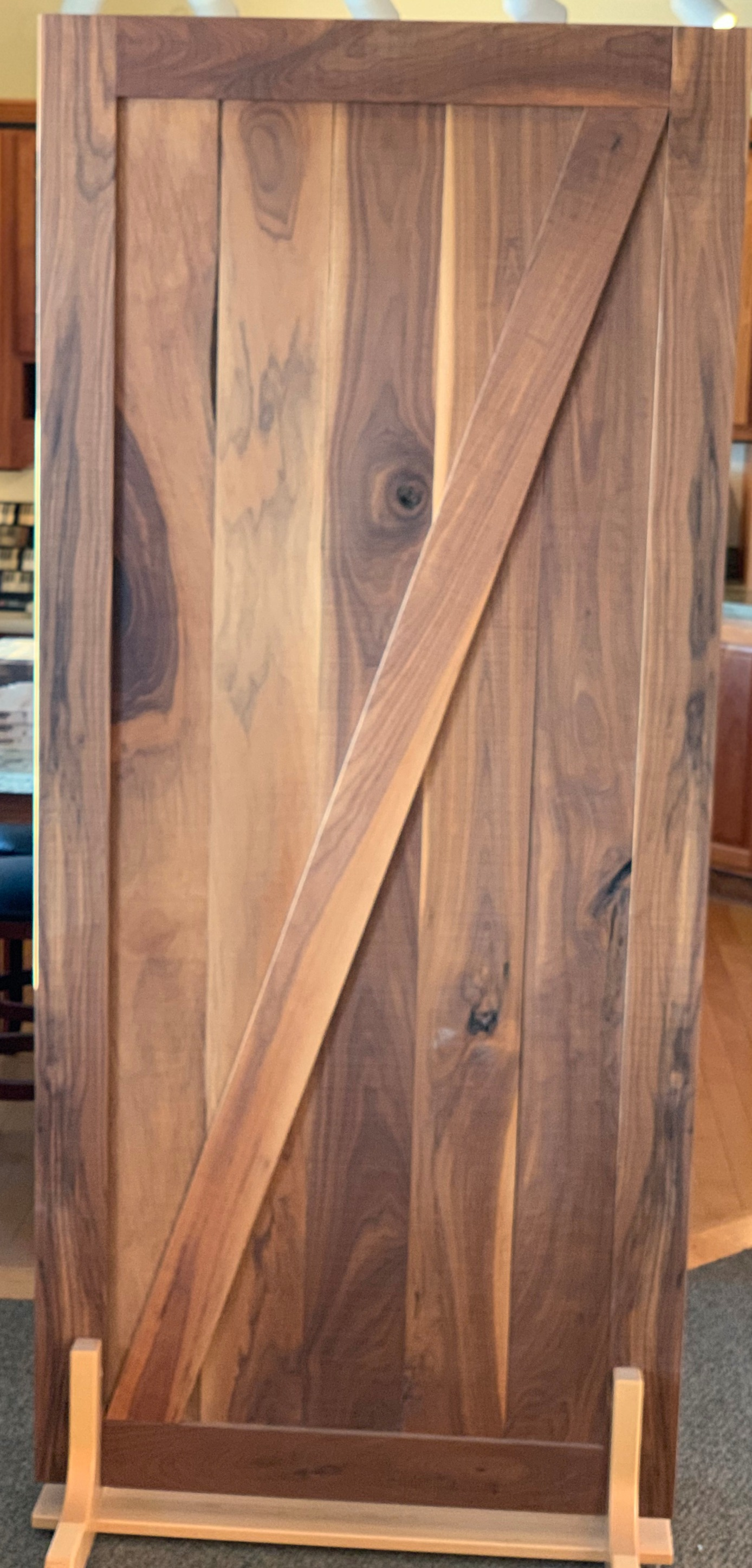 Rustic Walnut Barn Door