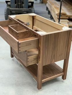 Powder Vanity - Walnut Drawer Boxes