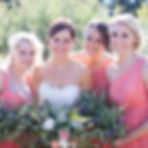 bride with bridesmaids on WhiteDoveAlbums.com
