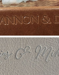 Custom Embossing Font Options for Wedding Album