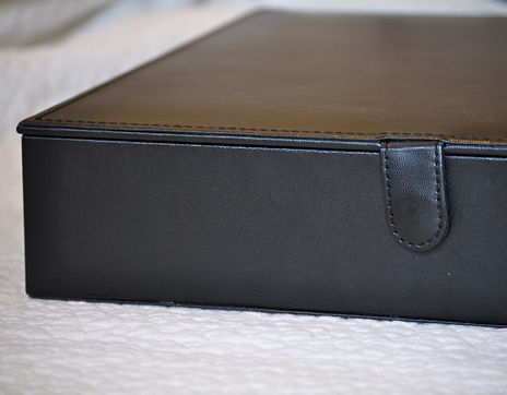 black leather storage box for wedding album