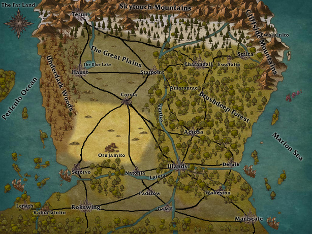 Map of the Far Land