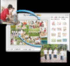 Online year book graduation album editor system cloud edit print photographer school kindergarten