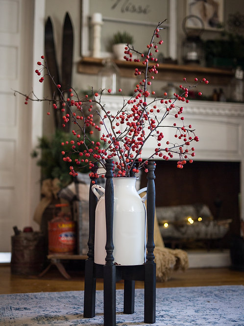 Milk Can Plant Stand
