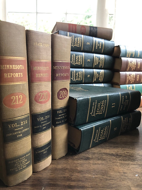 Historical MN Law Books