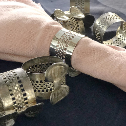 Set of 6 Silver napkin rings