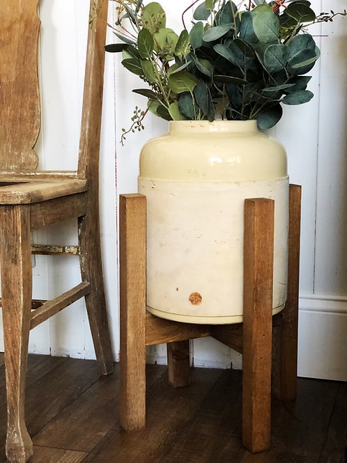 Vintage crock with stand