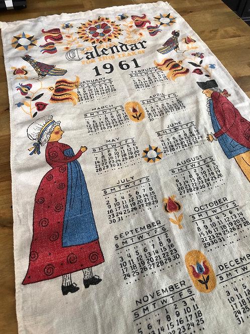 1961 Calendar Towel