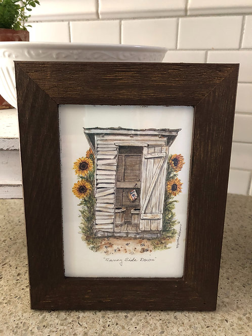 Framed Outhouse Art
