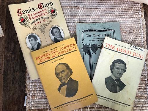 Set of historical booklets