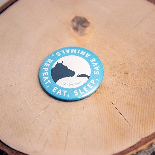 Grand magnet Eat, Sleep, Save Animals, Repeat