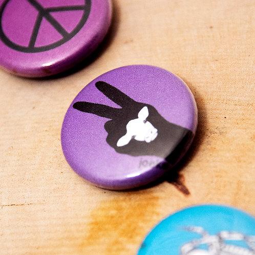 Badge Peace vache (by Joeke)