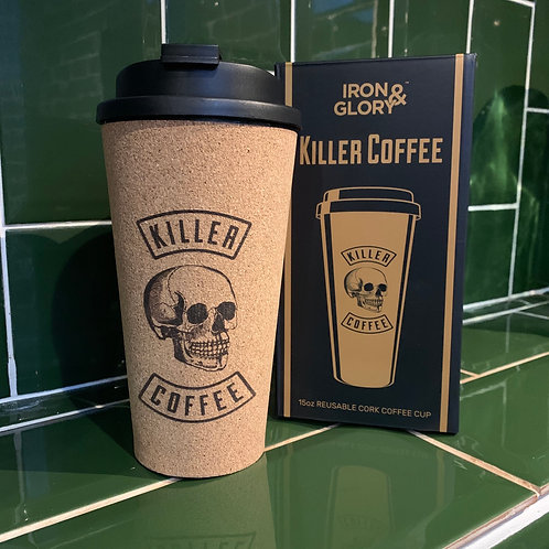 Killer Coffee cork travel mug