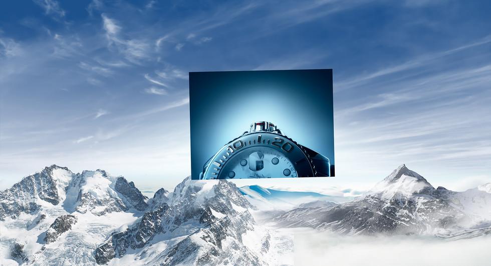 Beeldretouche voor een website campagne van het sporthorloge van het zwitserse horloge merk Invicta. Fase 2