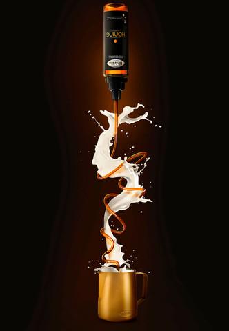 fotobewerking voor Melvita van oordt Honing Coffee barista force451