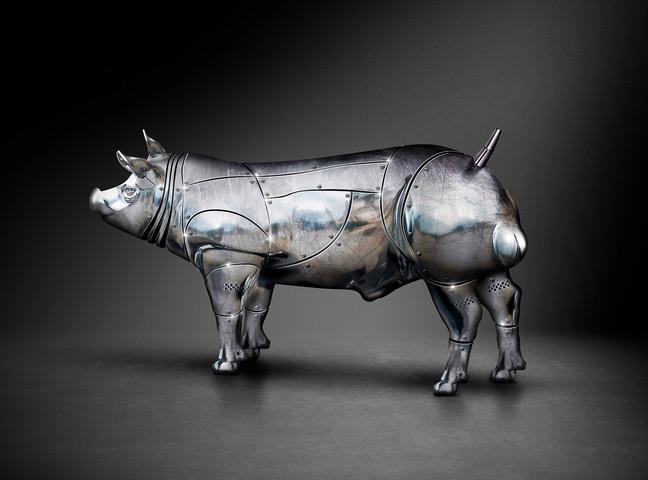 Beeldretouche voor een amerikaanse campagne van Topigs Norsvin Tempo Terminal boar.