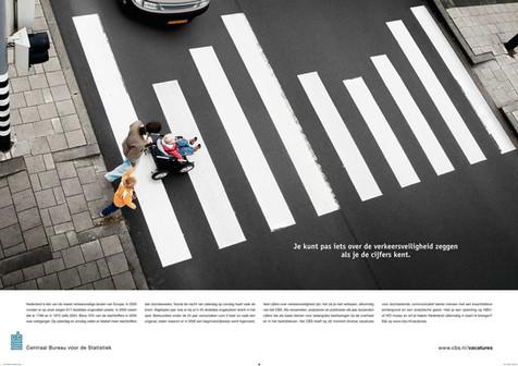 ARA Advertising voor het centraal bureau voor statistiek. zebra campagne
