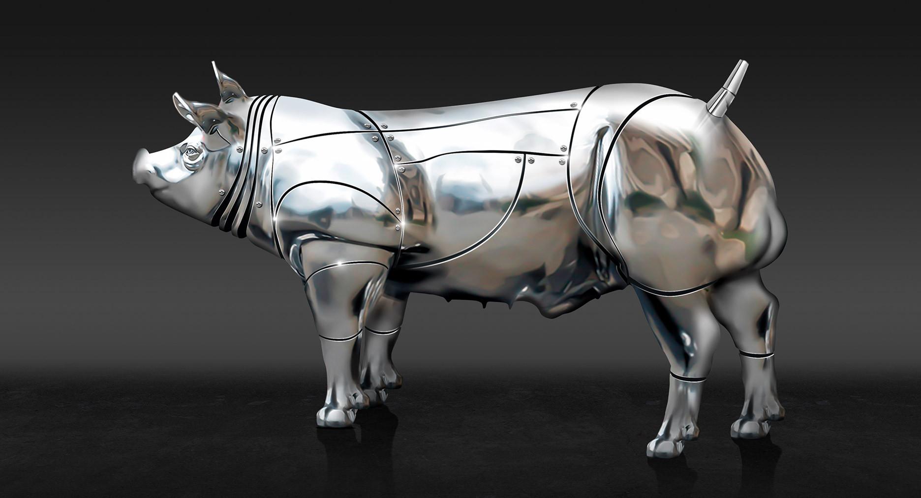 Beeldretouche voor een amerikaanse campagne van Topigs Norsvin Tempo Terminal boar. Fase 3