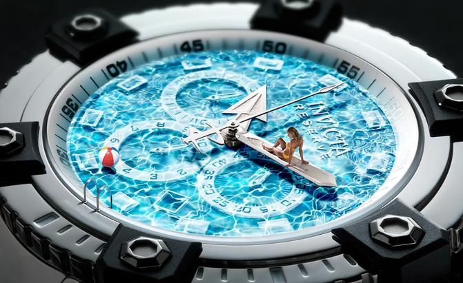 Capital Advertising, Invicta Horloges als zwembad.