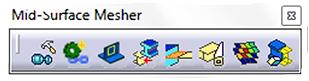 fonctionnalités de l'outil Mid Surface Mesher