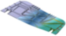 Element de tole  transformé par catia/Mis surface Mesher