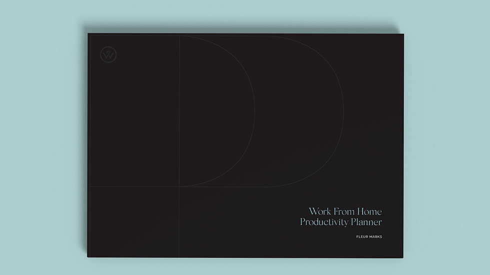 Working From Home Productivity Planner Pad